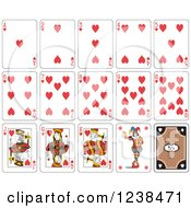 Clipart Of Heart Playing Cards Royalty Free Vector Illustration