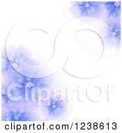 Purple Flower Background With Text Space