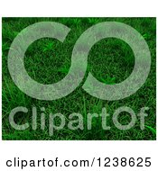 Clipart Of A Background Of 3d Green Grass Royalty Free Illustration