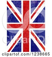 Clipart Of A Distresed Union Jack Flag Background Royalty Free Vector Illustration