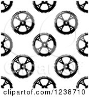 Clipart Of A Seamless Background Pattern Of Gears 4 Royalty Free Vector Illustration