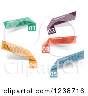 Clipart Of Colorful Infographic Ribbons Royalty Free Vector Illustration by Vector Tradition SM