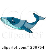 Clipart Of A Cartoon Happy Humpback Whale Royalty Free Vector Illustration by Vector Tradition SM