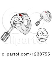 Clipart Of A Happy Hand Mixer Royalty Free Vector Illustration