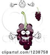 Clipart Of A Purple Currant Mascot Royalty Free Vector Illustration