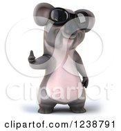 Clipart Of A 3d Koala Wearing Sunglasses And Giving A Thumb Up Royalty Free Illustration
