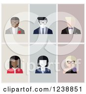 Clipart Of Male And Female Avatar Icons Royalty Free Vector Illustration