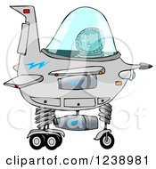 Clipart Of A Boy Astronaut Operating A Spaceship Royalty Free Illustration by Dennis Cox