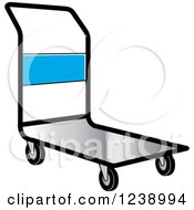 Clipart Of A Hand Truck Dolly Royalty Free Vector Illustration by Lal Perera