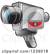 Clipart Of A Video Camera 2 Royalty Free Vector Illustration