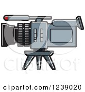 Clipart Of A Video Camera Royalty Free Vector Illustration by Lal Perera