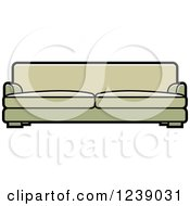 Clipart Of A Green Sofa Royalty Free Vector Illustration by Lal Perera