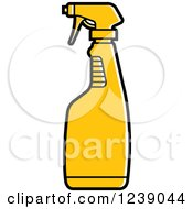 Clipart Of A Yellow Spray Bottle Royalty Free Vector Illustration by Lal Perera