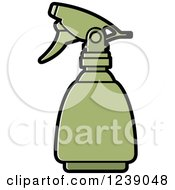 Clipart Of A Green Spray Bottle Royalty Free Vector Illustration