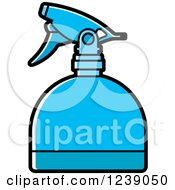Clipart Of A Blue Spray Bottle Royalty Free Vector Illustration