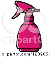 Clipart Of A Pink Spray Bottle Royalty Free Vector Illustration