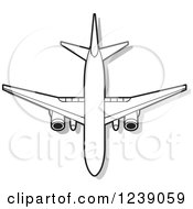 Clipart Of A Commercial Airliner Plane Royalty Free Vector Illustration by Lal Perera