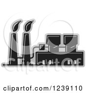 Clipart Of A Black And Gray Factory Royalty Free Vector Illustration by Lal Perera