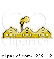 Clipart Of A Yellow Factory Royalty Free Vector Illustration by Lal Perera