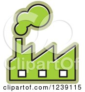 Clipart Of A Green Factory Royalty Free Vector Illustration by Lal Perera