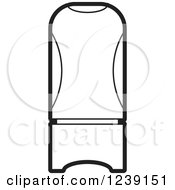 Clipart Of A Black And White Perfume Bottle Royalty Free Vector Illustration