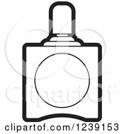 Clipart Of A Black And White Perfume Bottle 3 Royalty Free Vector Illustration
