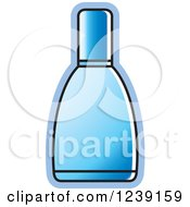 Clipart Of A Blue Glass Perfume Bottle 2 Royalty Free Vector Illustration