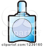 Clipart Of A Blue Glass Perfume Bottle 3 Royalty Free Vector Illustration by Lal Perera
