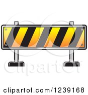 Clipart Of A Road Block Construction Barrier Royalty Free Vector Illustration