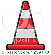 Clipart Of A Road Construction Traffic Cone Royalty Free Vector Illustration