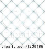 Clipart Of A Seamless White And Gray Diamond Pattern Tile Background Royalty Free Vector Illustration