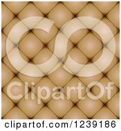 Clipart Of A Seamless Brown Cusion Leather Texture Background Royalty Free Vector Illustration