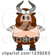 Clipart Of A Mad Minotaur Bull Man Royalty Free Vector Illustration by Cory Thoman