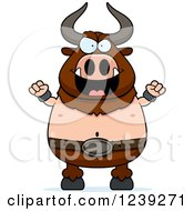 Clipart Of An Evil Minotaur Bull Man Royalty Free Vector Illustration by Cory Thoman