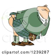 Man In A Kilt Bending Over And Releasing A Scotch Gas Fart