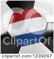 Clipart Of A 3d Close Up Of A Netherlands Flag On A Soccer Ball Royalty Free CGI Illustration