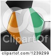 3d Close Up Of An Ivory Coast Flag On A Soccer Ball