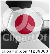 Clipart Of A 3d Close Up Of A Japanese Flag On A Soccer Ball Royalty Free CGI Illustration