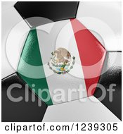 Clipart Of A 3d Close Up Of A Mexican Flag On A Soccer Ball Royalty Free Illustration