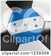 3d Close Up Of A Honduras Flag On A Soccer Ball
