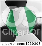 Clipart Of A 3d Close Up Of A Nigeria Flag On A Soccer Ball Royalty Free CGI Illustration