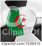 3d Close Up Of An Algeria Flag On A Soccer Ball
