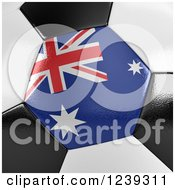 Clipart Of A 3d Close Up Of An Australian Flag On A Soccer Ball Royalty Free CGI Illustration