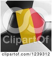 Clipart Of A 3d Close Up Of A Belgium Flag On A Soccer Ball Royalty Free CGI Illustration