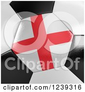 Clipart Of A 3d Close Up Of An English Flag On A Soccer Ball Royalty Free CGI Illustration by stockillustrations