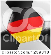 Clipart Of A 3d Close Up Of A German Flag On A Soccer Ball Royalty Free CGI Illustration