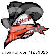 Renegade Baseball With A Bandana And Cowboy Hat