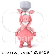 Clipart Of A 3d Happy Chef Pig Royalty Free Illustration by Julos