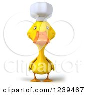 Clipart Of A 3d Chef Duck Royalty Free Illustration by Julos