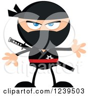 Clipart Of A Mad Ninja Warrior Royalty Free Vector Illustration